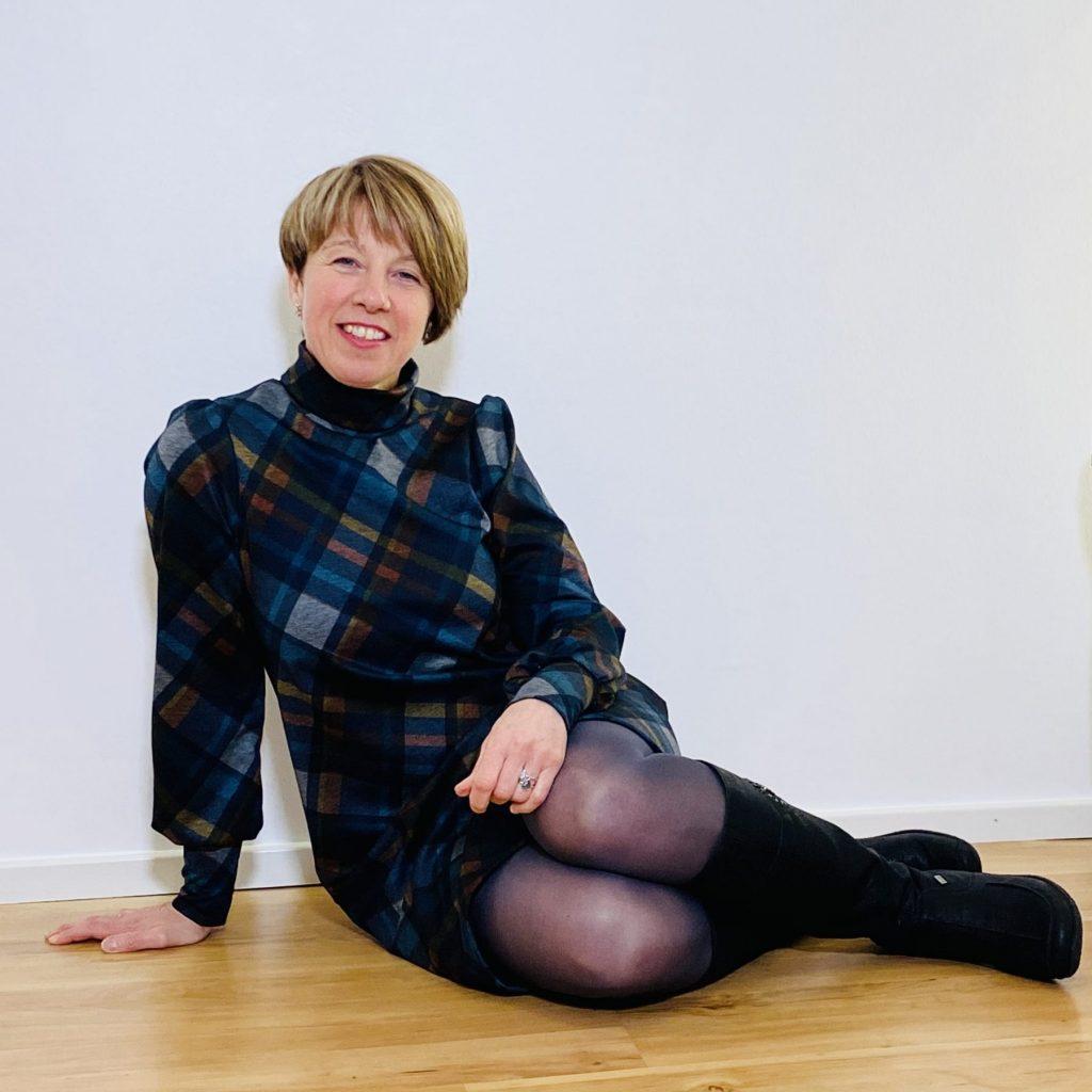 Kleid Daniella aus Romanitjersey mit Karomuster